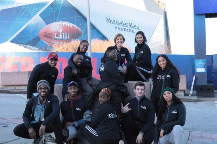 LOCAL ATLANTA DANCERS FROM TADA PERFORMED DURING THE SUPER BOWL LIII EVENTS WITH ALOE BLACC