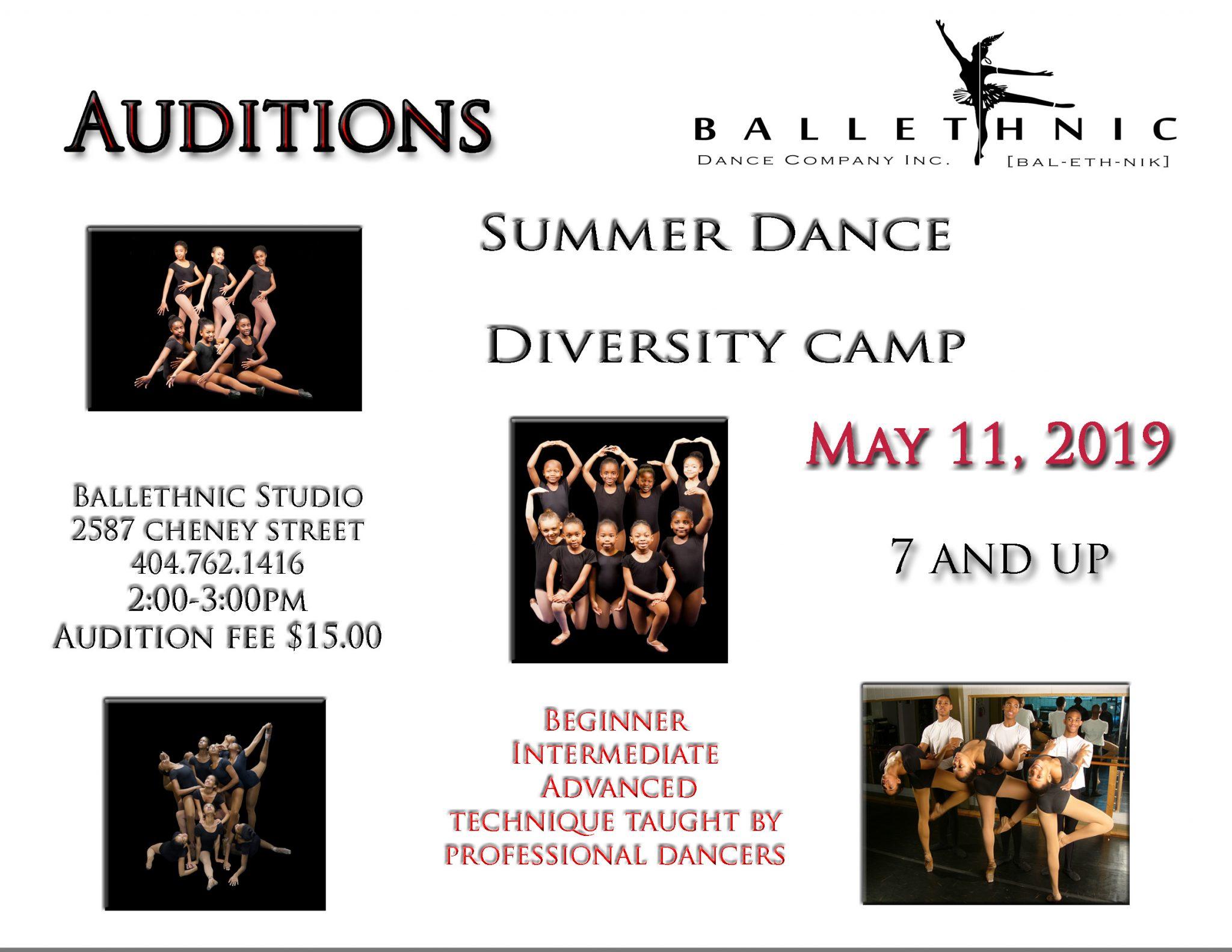 Summer Dance Diversity Camp Auditions – Dance Atlanta